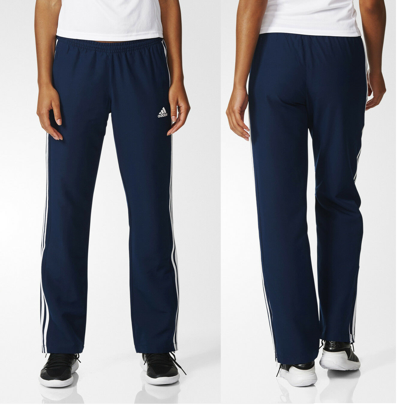 c7f21dbecb6 Details about adidas Team T16 Women's Navy Tracksuit Trousers Running Gym  Sports Track Pants