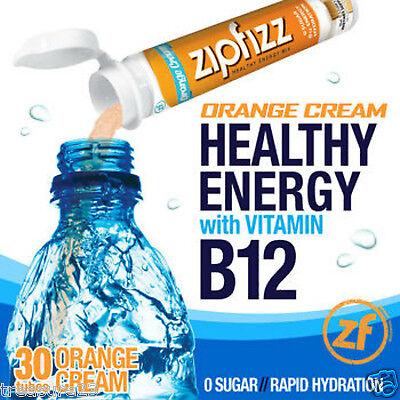 Zipfizz Fine fettle Energy Drink Mix Orange Cream 30 Tubes
