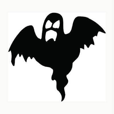 Scary Halloween Cars (Ghost Sticker Halloween Scary Haunting Boo Car Window Vinyl Decal Graphic)