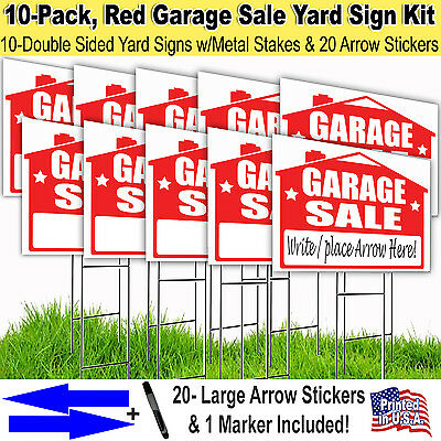 10 Band 'GARAGE Rummage sale' 18x24 Yard / Greensward Signal Kits