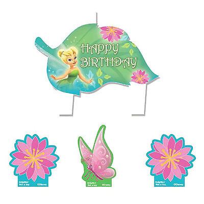 Disney Fairies Tinkerbell Birthday Party Cake Topper Decoration Candles - Halloween Fairy Cake Decorations