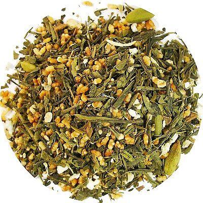 Masala chai Genmaicha  Green Tea  With Brown Rice  Tea Loose Leaf Tea  1/4  (Masala Rice)
