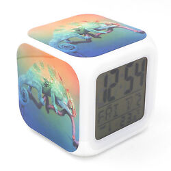 Led Alarm Clock Chameleon Animal Creative Digital Table Clock for Kids Toy Gift