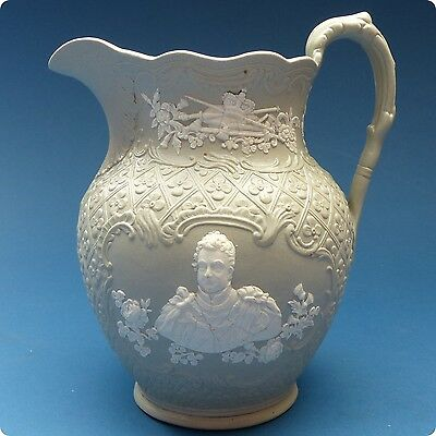 V.Rare 1831 King William IV & Queen Adelaide Coronation Jug