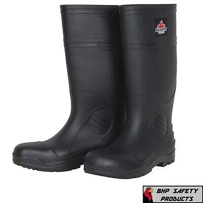 Rubber Fishing Hunting Boots Black Waterproof Pvc Mens Work Mud Dirt Wsteel Toe