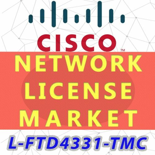 L-ftd4331-tmc Cisco Ngfwv Ips, Apps, Amp And Url On Isr 4331, Smart License
