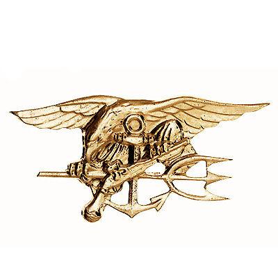Gold US Navy Seals Osama Bin Laden Team 6 ST6 Trident Uniform Jacket Pin Medal