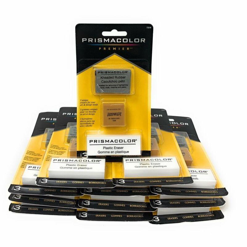 Stanford Design Prismacolor Premier Assorted Erasers 3 Piece Box Of 12 73318