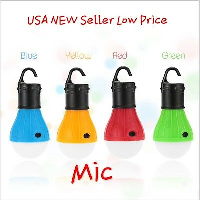 LED Camping Hanging Tent Light Bulb Fishing Lantern Lamp Outdoor Accessories
