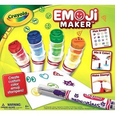 Crayola Stamp Markers (Crayola Custom Emoji Stamp Marker Maker with Tips Kids Art Activity Age)