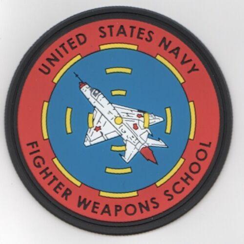 NAVY FIGHTER WEAPONS SCHOOL TOP GUN NAS MIRAMAR CALIFORNIA PCV MILITARY PATCH