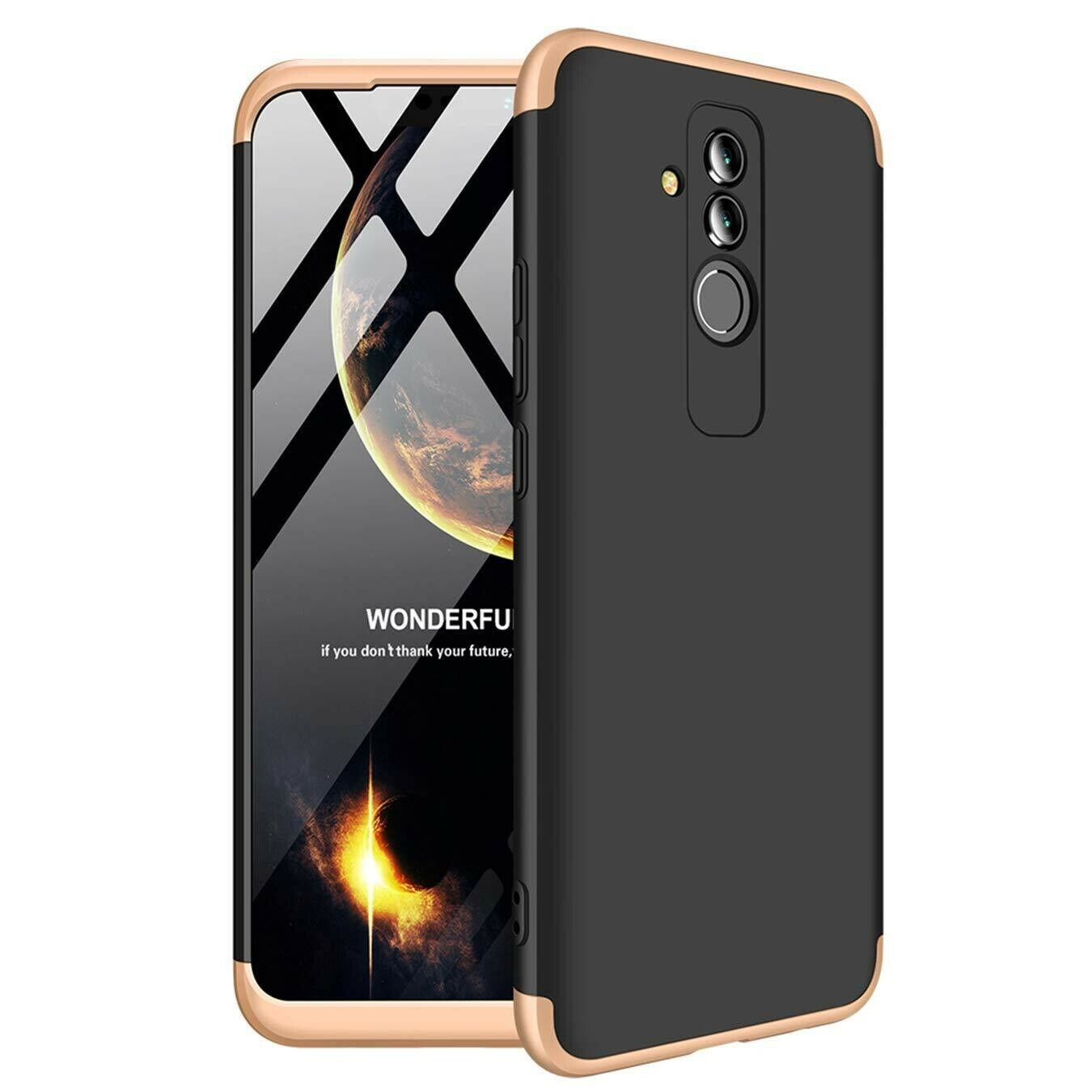 Coque - case cover Huawei Mate 20 Lite Noire - Or (beige) Black -Gold (beige)