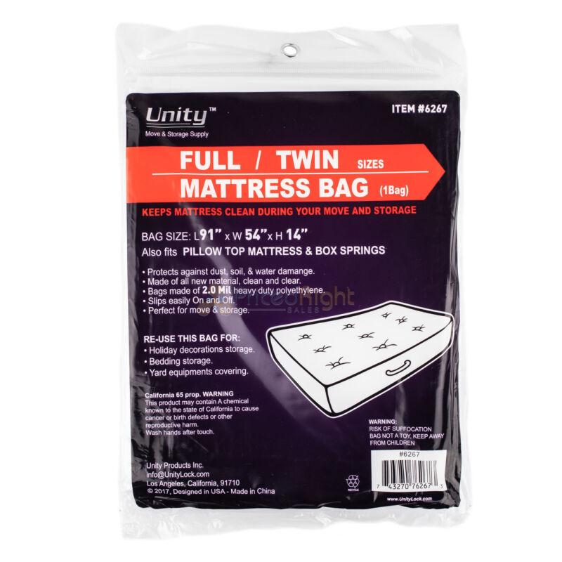 Durable Plastic Full/Twin Mattress Cover Dust Water 2 Mil Heavy Duty Storage Bag