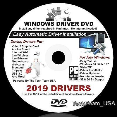 2018 2019 Repair Restore Computer Acer Drivers DVD  Windows 7 8 XP Vista -