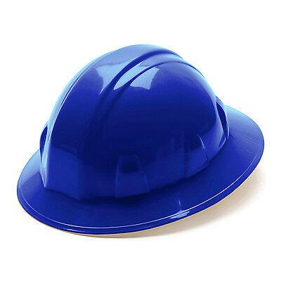 Pyramex Hard Hat Blue Full Brim With 4 Point Ratchet Suspension Hp24160
