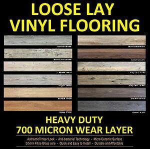 LOOSE LAY Vinyl Flooring planks floor DIY NO floating click glue down laminate