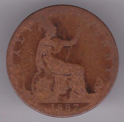 United Kingdom Half-Penny 1887 Bronze Coin