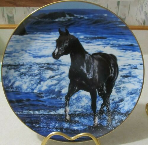 Black Horse Collector Plate Free Spirit Ebony Champion by Lesley Harrison Ocean