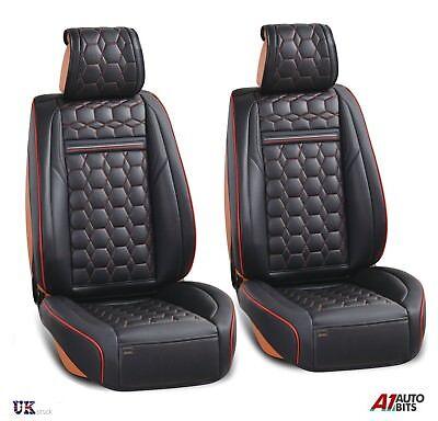 Deluxe Schwarz Kunstleder Vorne Sitzbezüge Gepolstert für Mazda 2 3 6 CX3 CX5