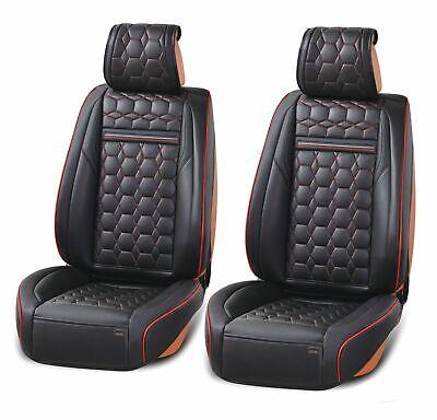 1+1 eleganter Autositzbezug rot schwar Sitzbezüge Kunstleder Schonbezüge Komfort