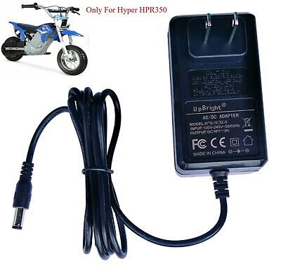 AC Adapter For 24 Volt Hyper HPR350 Electric Motorcycle Bike Has Auto Shut Off