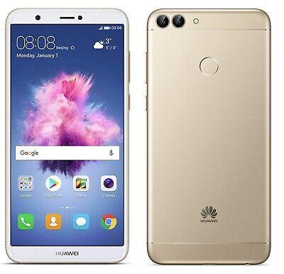 "Huawei P Smart 4G 5.65"" Smartphone 3GB RAM 32GB Unlocked Gold (No Ep) B+"
