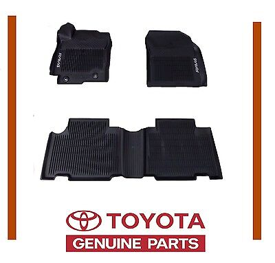 Toyota Rav4 2013 16 2017 2018  All Weather Rubber Floor Mat Liners OEM OE