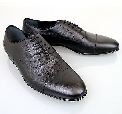 87143a977 New Authentic Gucci Mens Leather Lace-up Oxford w Script Logo Black 258804  1000