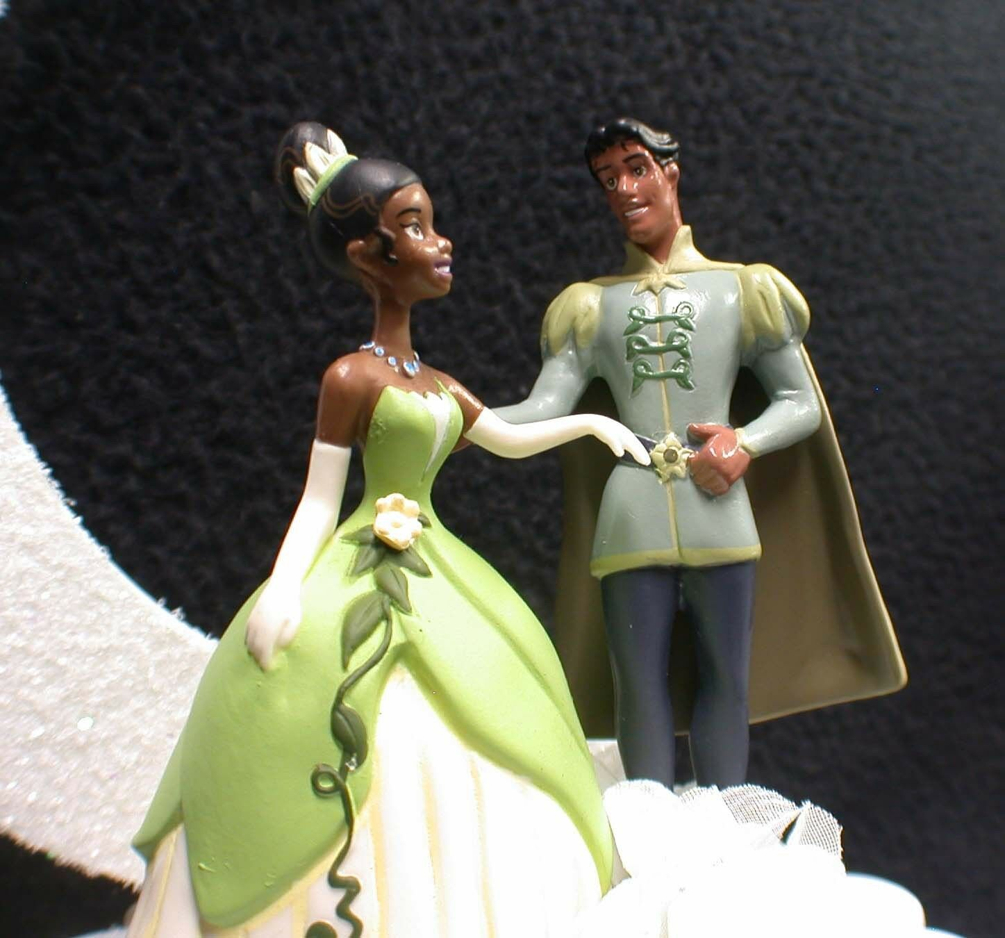 """Disney Princess Tiana Prince Wedding Cake"""