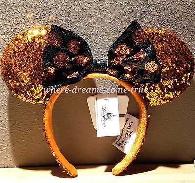 Disney Parks Minnie Mouse Halloween Ears Sequined Headband (NEW) - Halloween Mouse