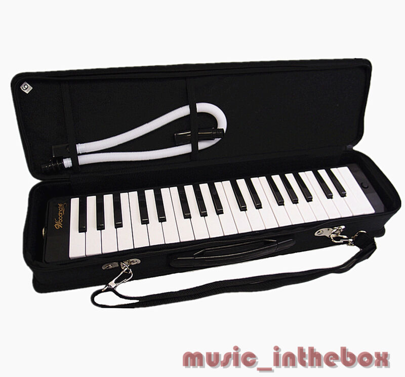 Woodnote Brand - Great 37 Key Black Melodica & Deluxe Carrying Case
