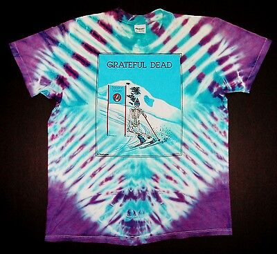 Grateful Dead Shirt T Shirt 1989 Downhill Slalom Skiing Squaw Valley Ski Furthur