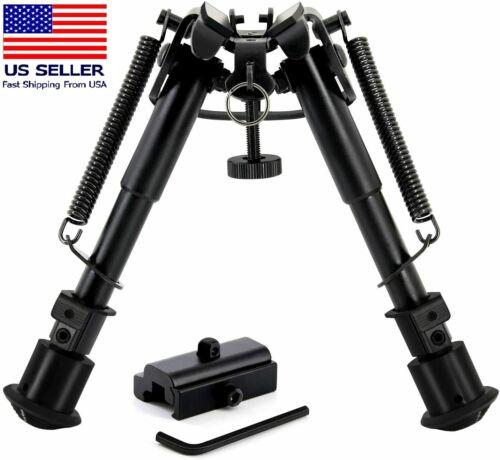 6-9 Inch Tactical Bipod 360° Picatinny Rail Mount Adapter 5 Notch Legs Shooting