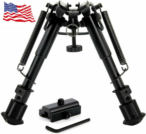 """CVLIFE 6""""-9"""" Tactical Rifle Bipod Adjustable Spring Return with Adapter"""
