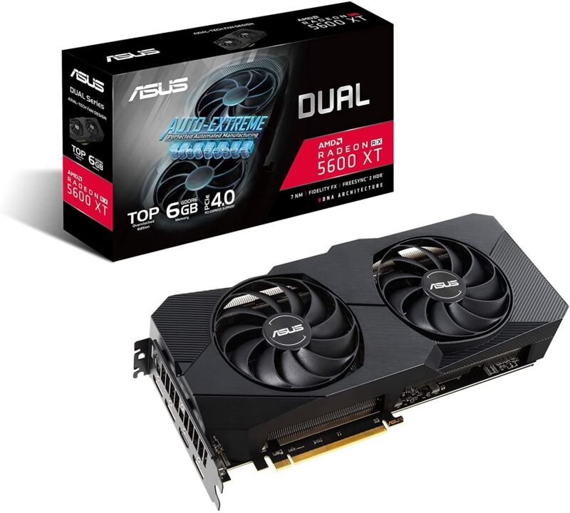 ASUS Dual AMD Radeon RX 5600 XT EVO Top Edition Gaming Graphics Card