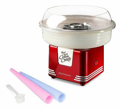 Nostalgia Commercial Cotton Candy Machine Flossing Sugar Electric Maker W Cones