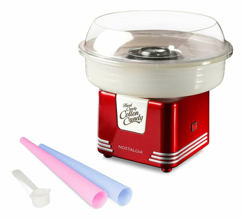 Nostalgia Commercial Cotton Candy Machine Flossing Sugar Electric Maker w/ Cones