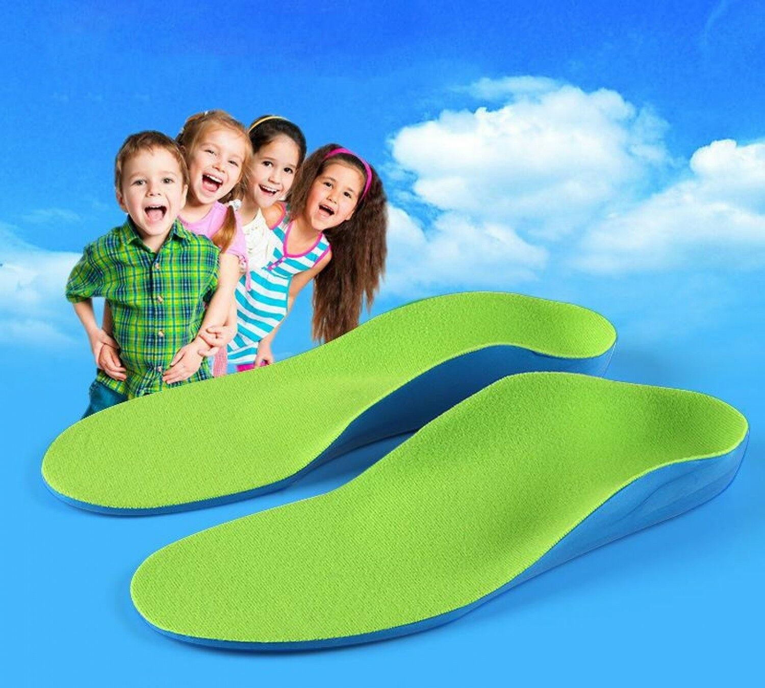 EVA Arch Support Insoles Orthotic Orthopedic Shoe Inserts For Kids Children A-L