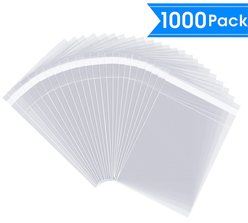 """100 Crystal Clear Resealable Flap Seal Bags 5/"""" x 7/"""" mailing shipping 1.5 mil"""