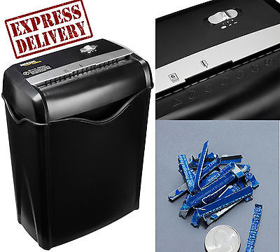 Paper Shredder Cross Cut 6 Sheet Crosscut Easy Lift Handle Office Credit Card