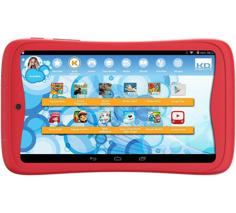 "Kurio Tab Junior 7 "" Kinder Tablet PC 1GB RAM Android 6 Marshmallow Rot 8GB+64GB"