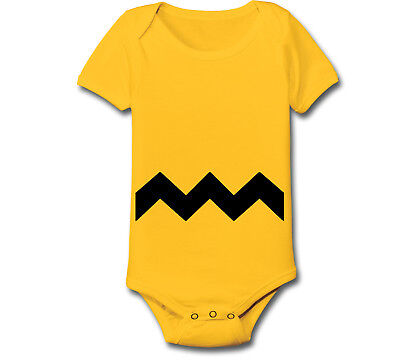Charlie Brown Stripe Halloween Christmas Costume Kids newborn Baby One Piece - Charlie Halloween