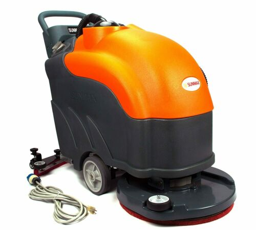 """Walk-Behind Floor Scrubber, 22"""" Brush, Corded, 19ft Cable Length, 200 RPM"""