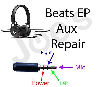 SERVICE Beats by Dre EP Headphones Repair 3.5MM Audio Jack Replacement