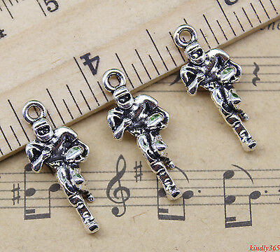 Wholesale Retro Style Football Players Alloy Charm Pendants Diy Material 24X10mm