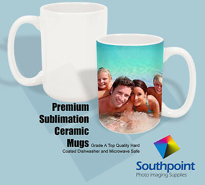 Blank Ceramic Mugs (Sublimation Ceramic Mugs 15oz Grade A White Pearl Coat Mug Blanks)