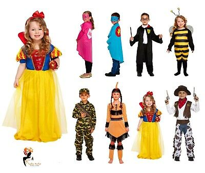 Kids FANCY DRESS COSTUMES Girls Boys Halloween World Book Day Outfit Party  - Girls Book Costumes