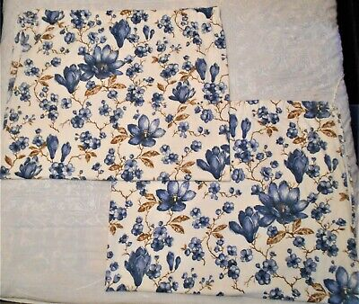 "St Michael Vintage Floral Lined Curtains - Pair - Each 66"" Wide & 54"" Drop."
