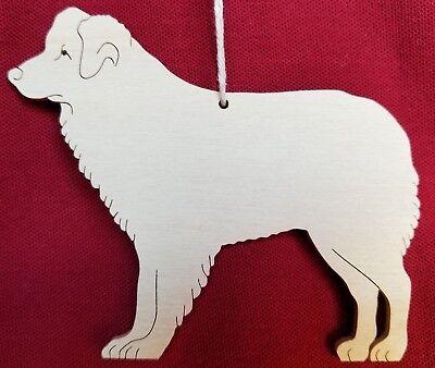 Australian Shepherd  Ornament  Hand Cut On Scroll Saw  Ausie