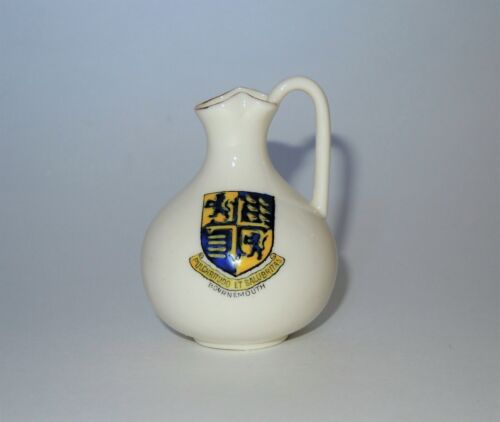 W.H. GOSS Crested Heraldic China Mini Miniature Model of Oxford Ewer Bournemouth